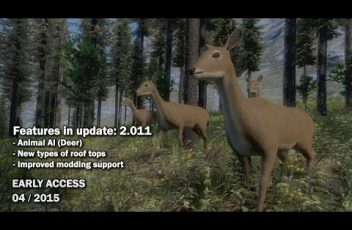 Medieval-Engineers-Update-02.011-Animal-AI-deer-New-types-of-roof-tops