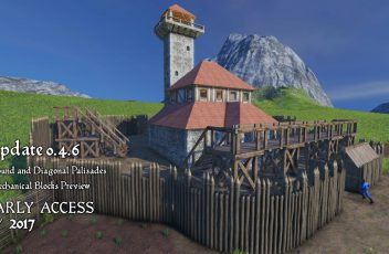 Medieval-Engineers-Update-0.4.6-Round-and-Diagonal-Palisades-Mechanical-Blocks-Preview